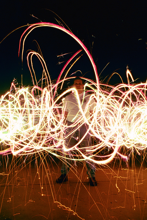 Jon and sparklers & Low-light photography concepts azcodes.com